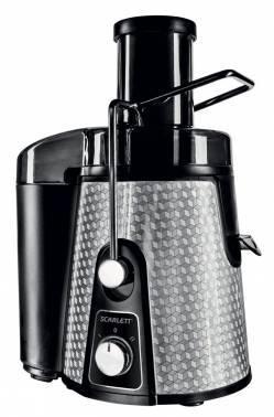 Соковыжималка центробежная Scarlett SC-JE50S06 серебристый / черный