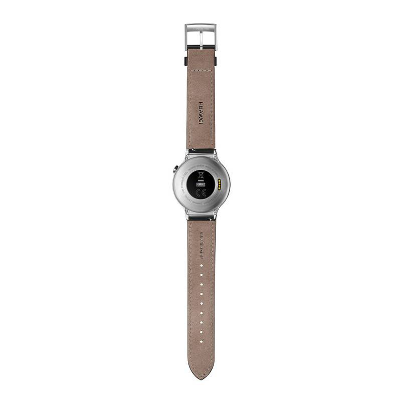 Смарт-часы Huawei CLASSIC LEATHER MERCURY-G00 серебристый - фото 4