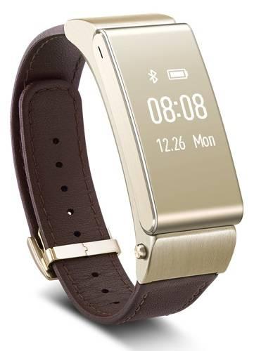 Фитнес-трекер Huawei B2 PREMIUM коричневый/золотистый - фото 1