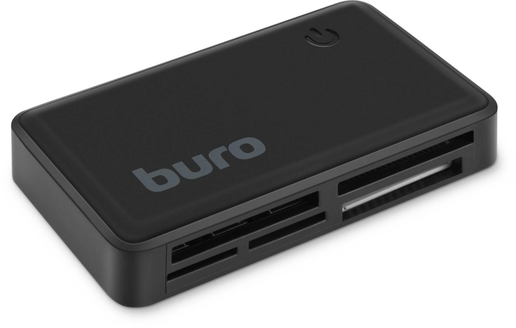 Картридер USB2.0 Buro BU-CR-151 черный - фото 1