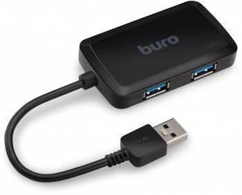 Хаб USB 3.0 Buro BU-HUB4-U3.0-S черный