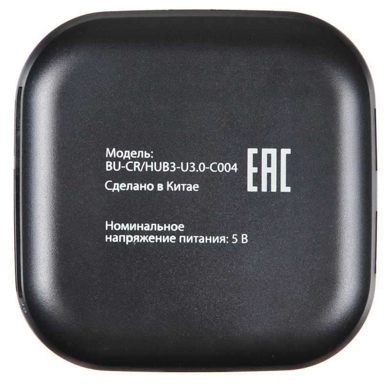 Картридер USB3.0 Buro BU-CR/HUB3-U3.0-C004 черный - фото 3