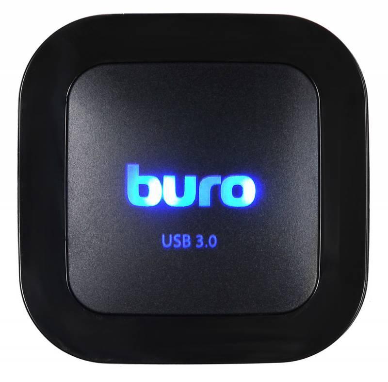 Картридер USB3.0 Buro BU-CR/HUB3-U3.0-C004 черный - фото 6