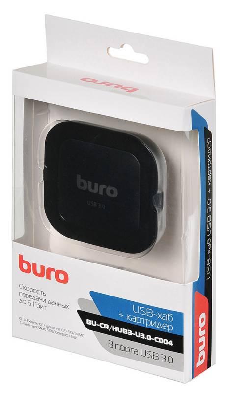 Картридер USB3.0 Buro BU-CR/HUB3-U3.0-C004 черный - фото 7