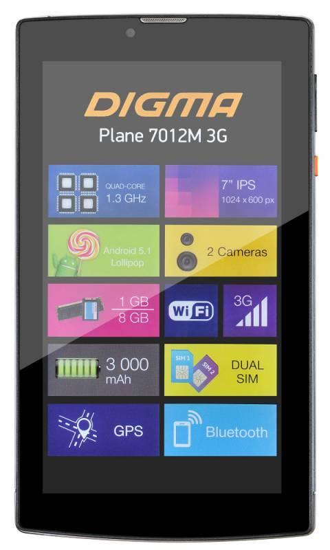 "Планшет 7"" Digma Plane 7012M 3G 8ГБ голубой (PS7082MG) - фото 3"