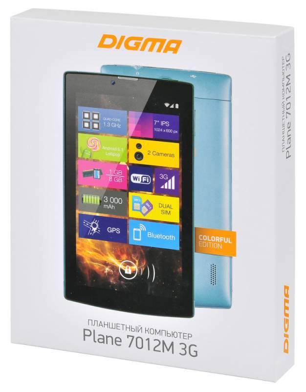 "Планшет 7"" Digma Plane 7012M 3G 8ГБ голубой (PS7082MG) - фото 10"