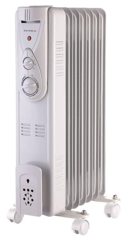 Масляный радиатор Supra ORS-07-P2 белый - фото 1