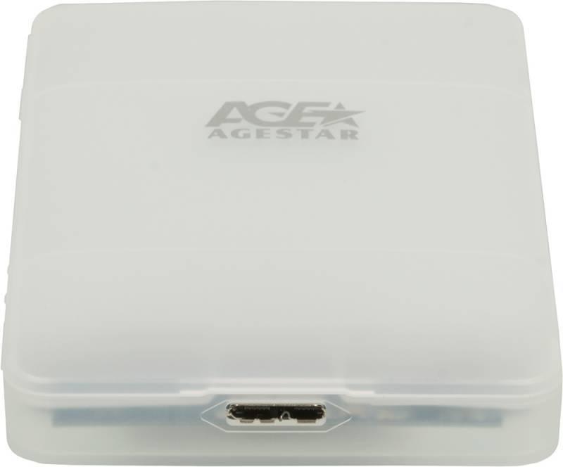 Внешний корпус для HDD/SSD AgeStar 31UBCP3 SATA белый - фото 2