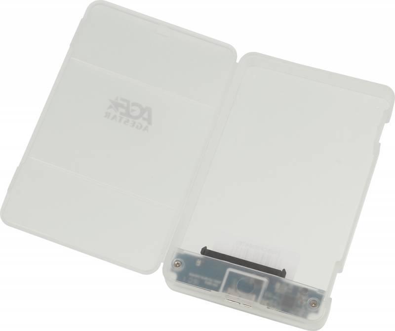 Внешний корпус для HDD/SSD AgeStar 31UBCP3 SATA белый - фото 3
