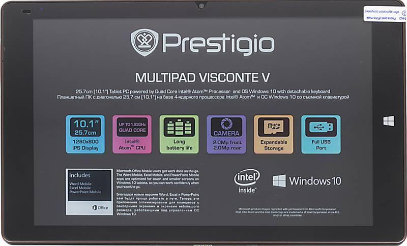 "Планшет 10.1"" Prestigio MultiPad VISCONTE V 16ГБ коричневый - фото 2"