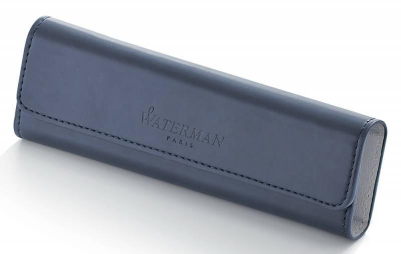 Набор Waterman Expert 3 Deluxe (1978716) Black CT ручка перьевая F синие чернила в компл.:чехол для ручки подар.кор. - фото 1