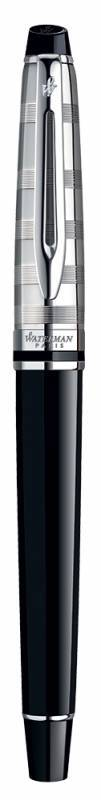 Набор Waterman Expert 3 Deluxe (1978716) Black CT ручка перьевая F синие чернила в компл.:чехол для ручки подар.кор. - фото 3
