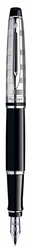 Набор Waterman Expert 3 Deluxe (1978716) Black CT ручка перьевая F синие чернила в компл.:чехол для ручки подар.кор. - фото 4