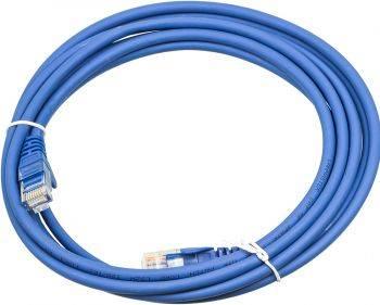 Кабель Патч-корд Lanmaster UTP LAN-PC45/U5E-3.0-BL вилка RJ-45-вилка RJ-45 кат.5е 3м синий