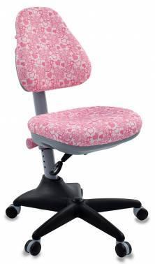 Кресло детское Бюрократ KD-2 / PK / HEARTS-PK розовый