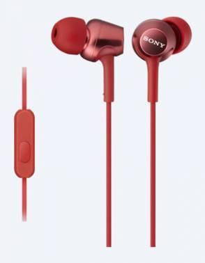 Гарнитура вкладыши Sony MDREX250APR.E красный, проводные, кабель 1.2м, крепление в ушной раковине