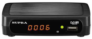 Ресивер DVB-T2 Supra SDT-85 черный