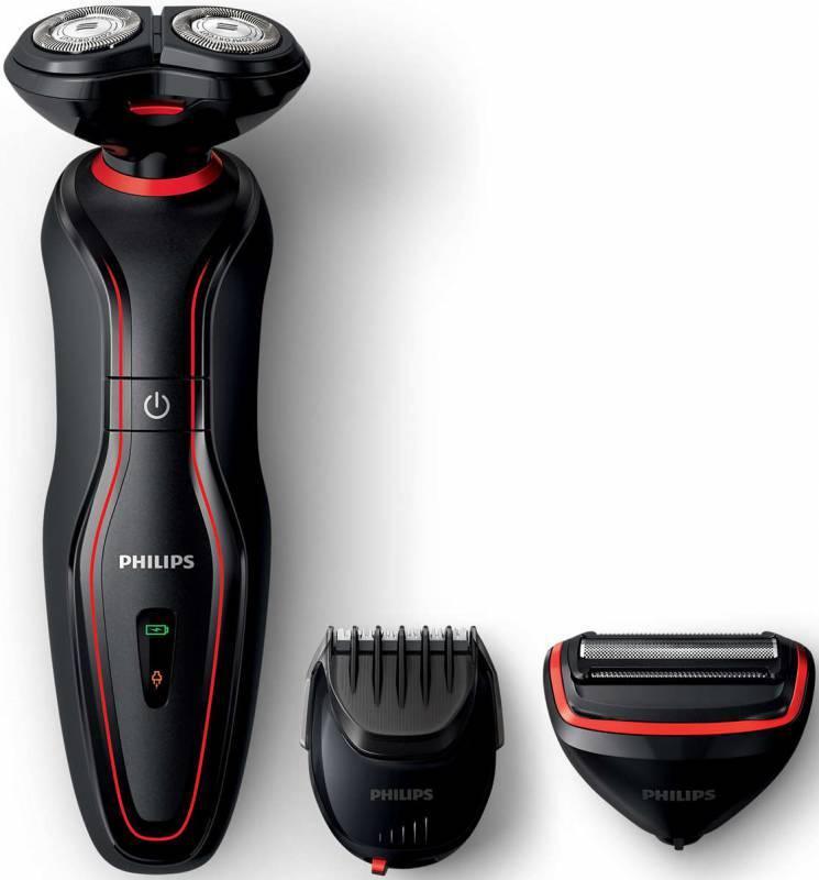 Электробритва Philips S738/17 черный/красный - фото 1