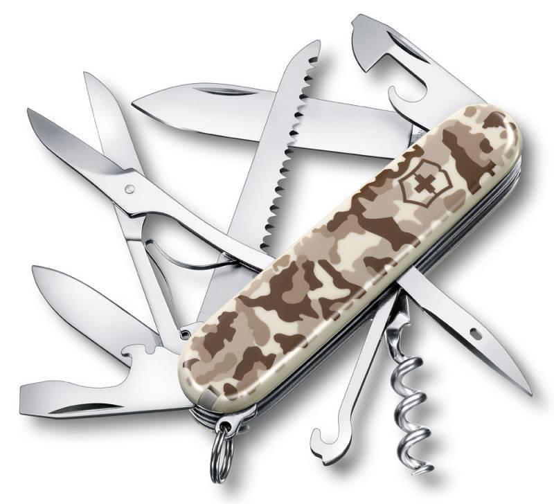 Нож со складным лезвием Victorinox Huntsman камуфляж пустыни (1.3713.941) - фото 1