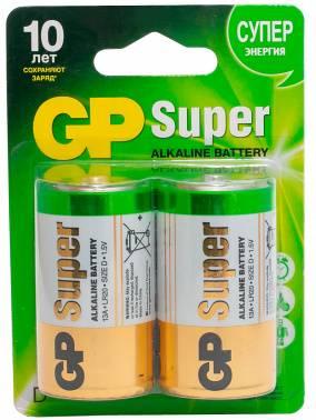 Батарея D GP Super Alkaline 13A LR20 (2шт)