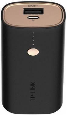 Мобильный аккумулятор TP-Link TL-PBG6700 черный, емкость батареи 6700mAh, USB разъемов 1, сила тока на выходе 2.4A