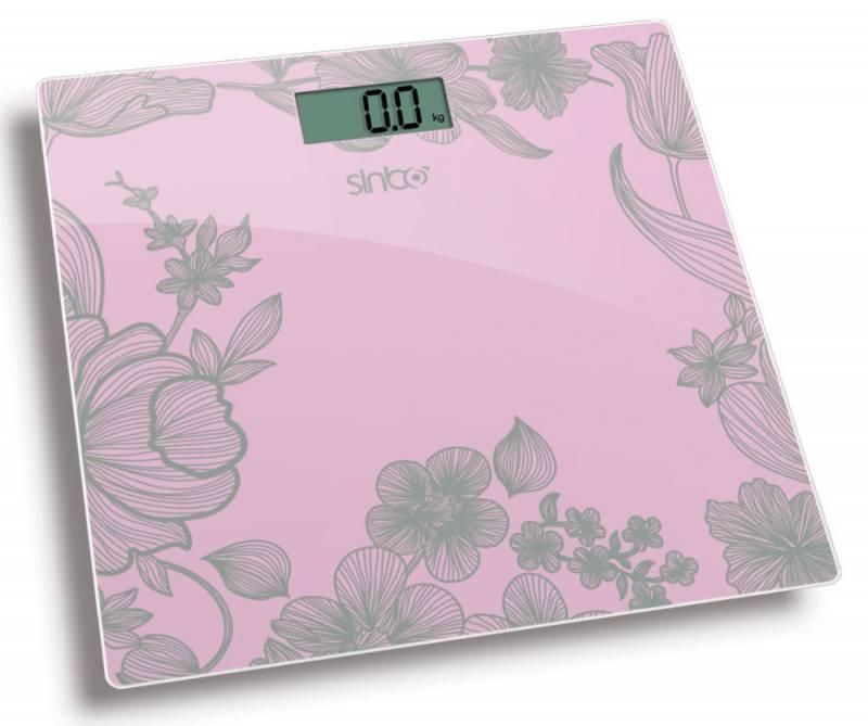 Весы напольные электронные Sinbo SBS 4429 розовый - фото 1