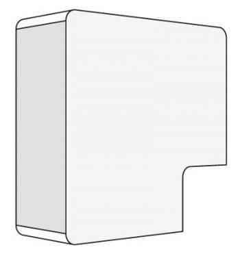 Угол плоский DKC APM 00425R белый (упак.:1шт)