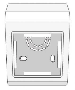 Коробка монтажная DKC PDM 10013 2x Mosaic белый