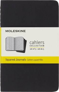 Блокнот Moleskine CAHIER JOURNAL POCKET 90x140мм обложка картон 64стр. клетка черный (3шт)
