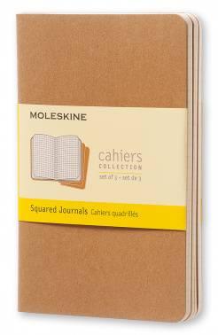 Блокнот Moleskine CAHIER JOURNAL POCKET 90x140мм обложка картон 64стр. клетка бежевый (3шт)