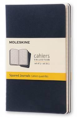 Блокнот Moleskine CAHIER JOURNAL POCKET 90x140мм обложка картон 64стр. клетка синий индиго (3шт)