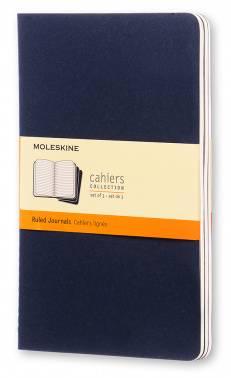 Блокнот Moleskine Cahier Journal Large синий индиго (CH216)