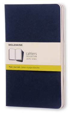 Блокнот Moleskine Cahier Journal Large синий индиго (CH218)