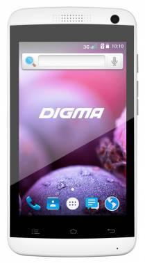 Смартфон Digma Linx A401 3G 4Gb белый моноблок 3G 2Sim 4 800x480 Android 5.1 2Mpix WiFi BT GSM900/1800 GSM1900 TouchSc MP3 FM A-GPS microSD max32Gb (LT4018PG)