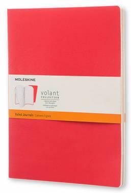 Блокнот Moleskine VOLANT Large бордовый/красный (QP721F14F2)