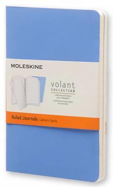 Блокнот Moleskine VOLANT POCKET 90x140мм 80стр. линейка мягкая обложка синий / темно-синий (2шт)