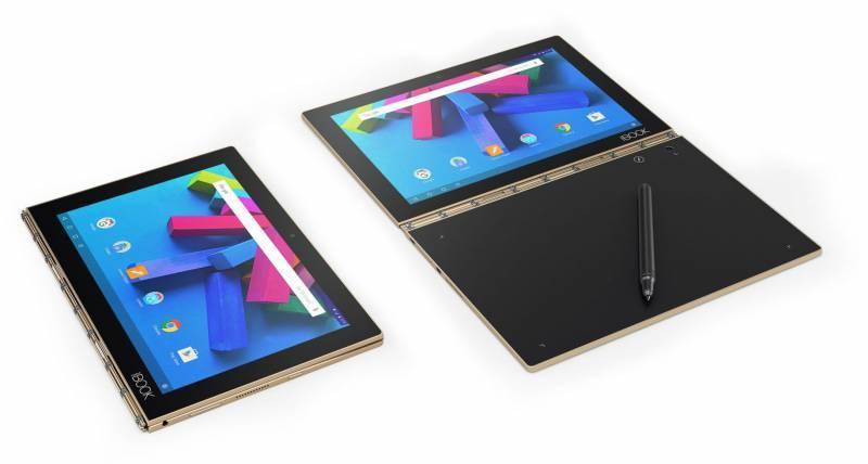 """Планшет 10.1"""" Lenovo Yoga Book YB1-X90L 64ГБ золотистый (ZA0W0014RU) - фото 2"""