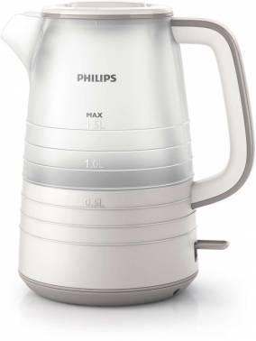 Чайник электрический Philips HD9336 / 21 бежевый / белый