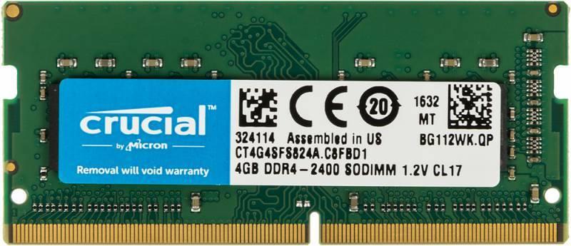 Модуль памяти SO-DIMM DDR4 4Gb Crucial (CT4G4SFS824A) - фото 1
