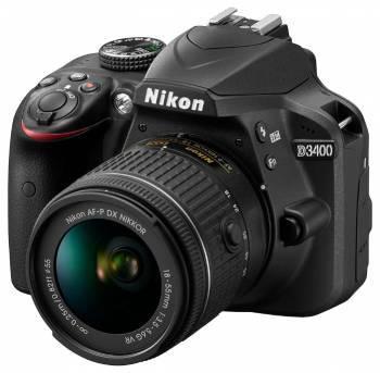 Фотоаппарат Nikon D3400 черный, 1 объектив 18-55mm f / 3.5-5.6 VR AF-P