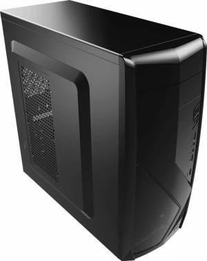 Корпус Aerocool CS-1102 черный, w/o PSU, верхнее расположение БП, форм-фактор ATX, длина видеокарты до 375мм, 1x80mm, 2x120mm, разъемы 2xUSB2.0, 1xUSB3.0, audio