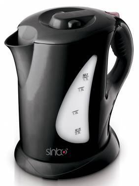 Чайник электрический Sinbo SK 2386 белый, объём 1.7л, мощность 2000Вт, материал корпуса: пластик