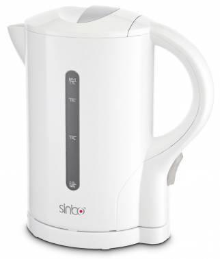 Чайник электрический Sinbo SK 7303 белый, объём 1.7л, мощность 2000Вт, материал корпуса: пластик