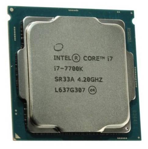 Процессор Intel Core i7 7700K Kaby Lake, Socket-1151, частота ядра 4.2ГГц, 4-ядерный, L3 кэш 8Мб, графическое ядро Intel HD Graphics 630, тепловыделение 91Вт, макс. температура 100С, BOX (BX80677I77700K S R33A) - фото 1