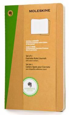 Блокнот Moleskine EVERNOTE LARGE 130х210мм обложка картон 80стр. линейка бежевый (2шт)