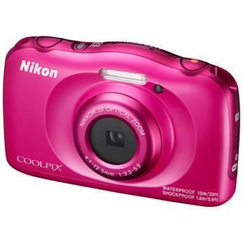 Фотоаппарат Nikon CoolPix W100 розовый