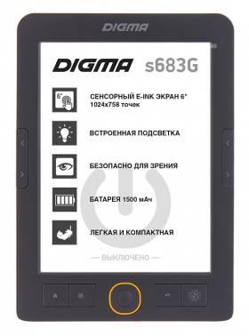 "Электронная книга 6"" Digma S683G серый"