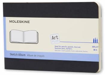 Альбом Moleskine CAHIER SKETCH ALBUM POCKET 90x140мм обложка картон 88 черный
