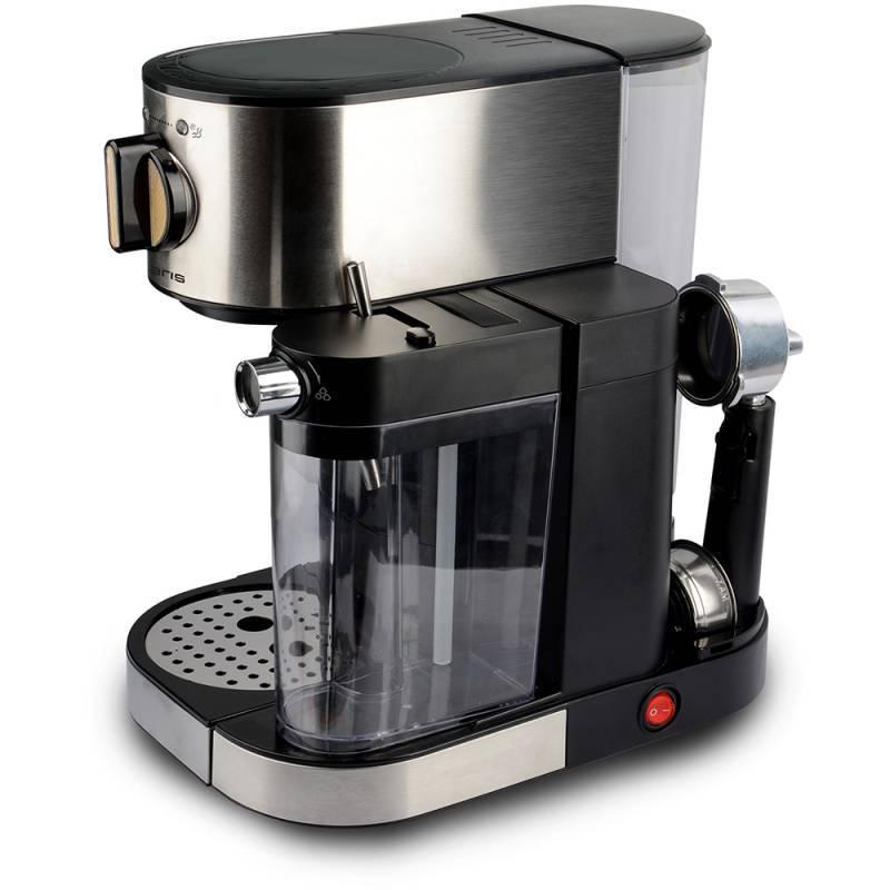 Кофеварка эспрессо Polaris PCM 1519AE серебристый/черный - фото 2
