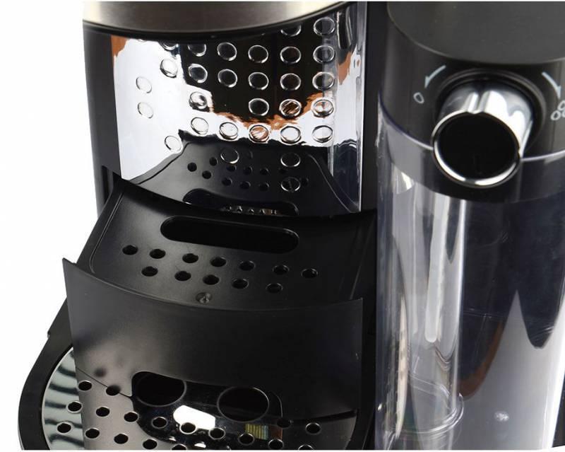 Кофеварка эспрессо Polaris PCM 1519AE серебристый/черный - фото 4